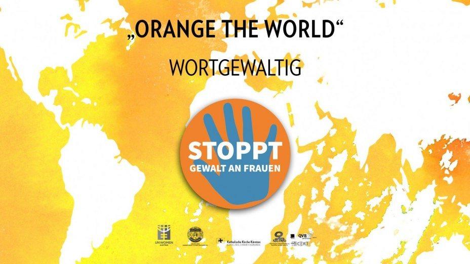 """Wort-Gewaltig - Orange the World 2020""""   © Foto: kfb"""