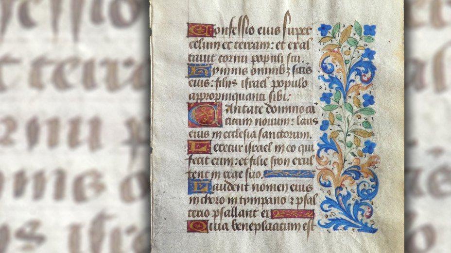 Bibelfestwochen | © Foto: Psalm 149 aus einem spätmittelalterlichen Psalterium (15. Jh.) - (Foto: Klaus Einspieler / Bearbeitung: Internetredaktion KHK)