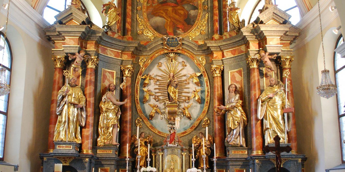 © Foto: Pfarre Maria Rain - Hochaltar in der Pfarrkirche Maria Rain