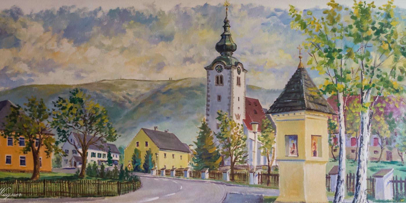 © Foto: Mag. Bernhard Wagner: Maria Rojach im Lavanttal: Wandgemälde im Gasthaus Markut