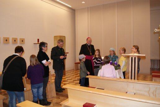 Bild: Althofener Jungscharkinder besuchten Bischof Schwarz