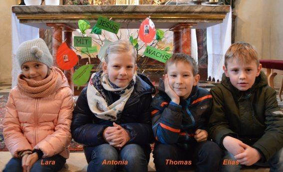 Bild: Familiengottesdienst mit den Erstkommunionkindern