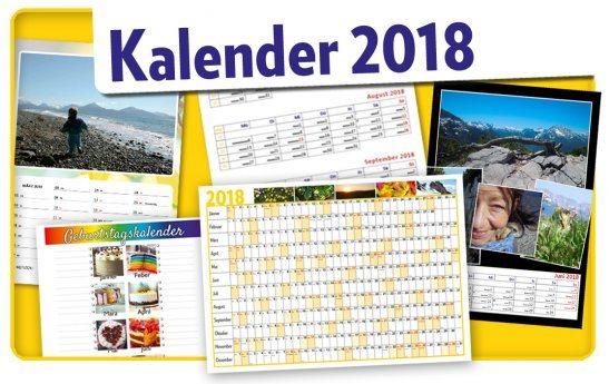Bild: Kalender und Jahresplaner 2018