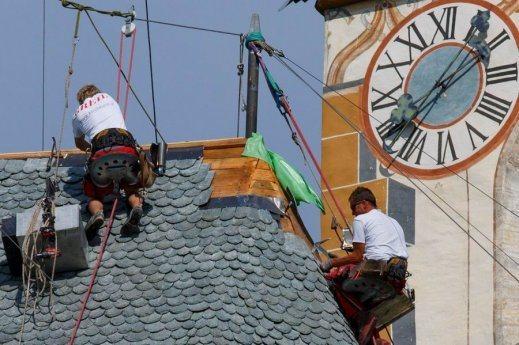 Bild: Neues Dach für die Propsteikirche Kraig