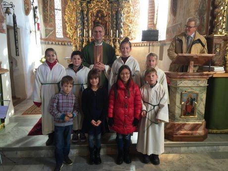 Bild: Ministranten der Pfarre St. Paul ob Ferndorf