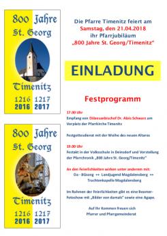 Bild: Pfarrjubiläum 800 Jahre St. Georg/Timenitz