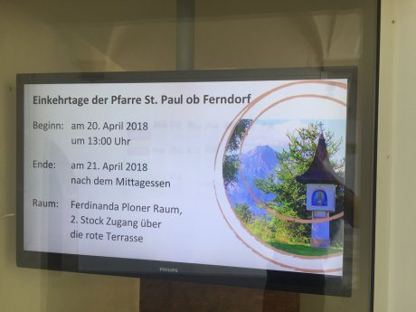 Bild: Pfarrklausur des Pfarrgemeinderates im Kloster Wernberg