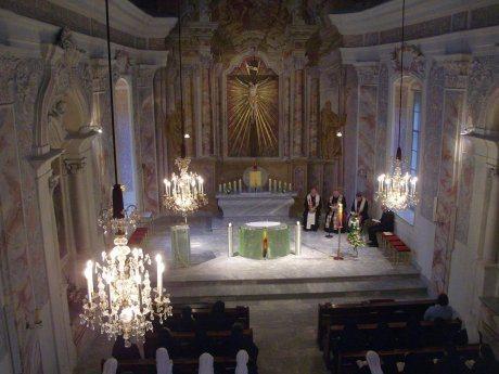 Bild: Vesper im Kloster Wernberg