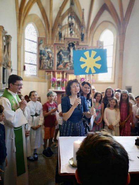 Bild: Schulgottesdienst in der Filialkirche St. Johann