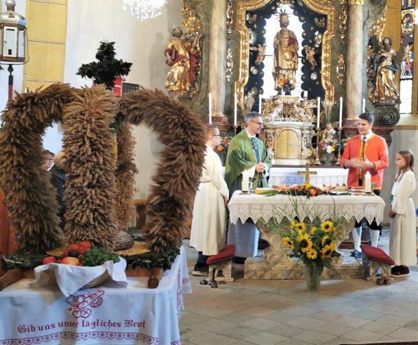 Bild: Erntedankfest in Neuhaus - heuer einmal anders • Zahvalna nedelja na Suhi