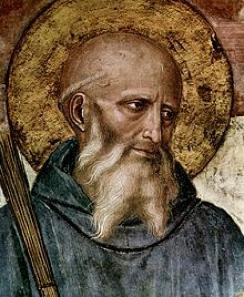 © Foto: Benedikt von Nursia, Fresco von Fra Angelico im Kloster von San Marco in Florenz