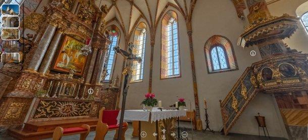 © Foto: Gerhard Löffler; Altarraum der Kirche Matzelsdorf