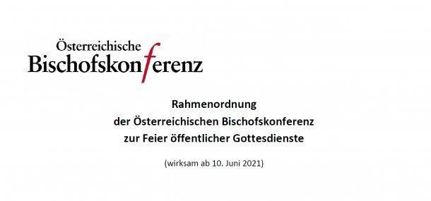 Bild: Rahmenordnung der Österreichischen Bischofskonferenz zur Feier öffentlicher Gottesdienste