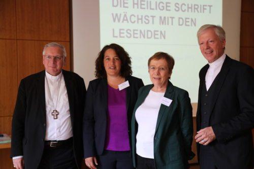 Na Pastoralnih dnevih v Tinjah: škof Freistetter, predavateljica Brockmöller, ravnatlejica Hennersperger, stolni prošt Guggenberger (Opetnik)