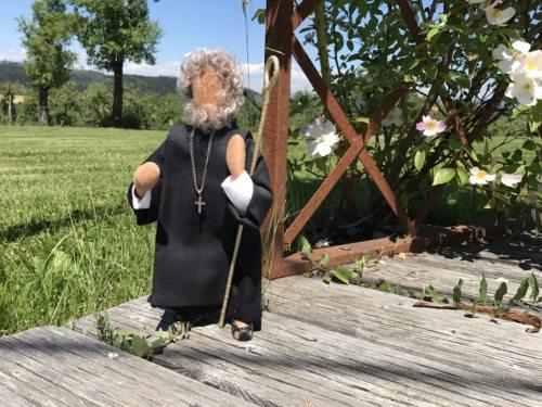 Hl. Benedikt im Stile der biblischen Figuren - Foto: Stift St. Georgen/Schils