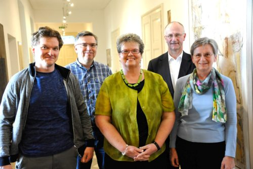Novoizvoljeno predsedstvo Katoliške akcije, z leve: Christian Urak, Andrej Lampichler, Ani Boštjančič, Janko Krištof, Marija Gruškovnjak (© Foto: vg)