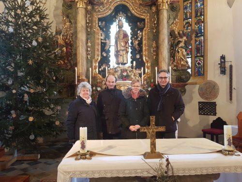 Besuch der Legion Mariens • Obisk Marijine legije (Pfarrarchiv Neuhaus-Suha)