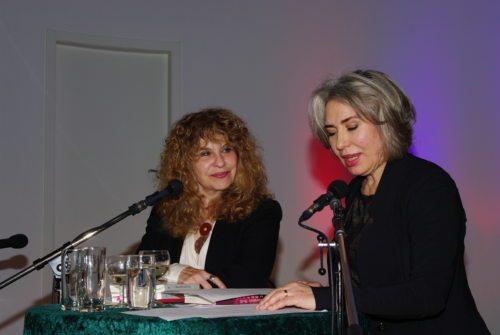 Gioconda Belli und die Schauspielerin Brigitte Karner bei der Lesung in Klagenfurt (Foto Karner)