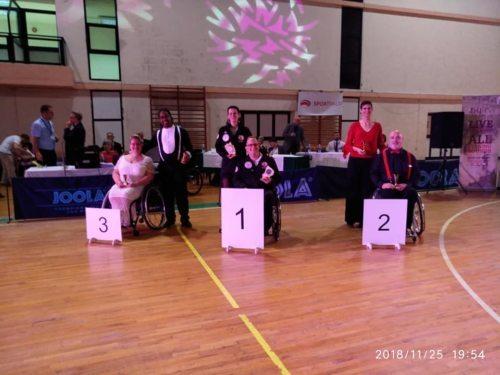 Sabine David und Jürgen Grabner - 1. Platz Kombi Latein LWD 1 (© DSG Tanzhof Rollstuhltanzen)