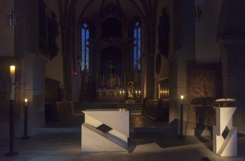 Altarraum in der Wolfsberger Markuskirche (© Foto S. Kopp)