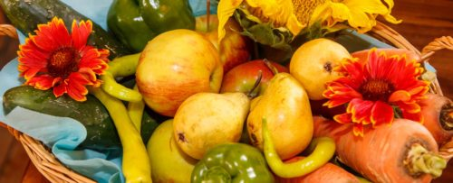 Korb voller Früchte Foto: Anton Wieser