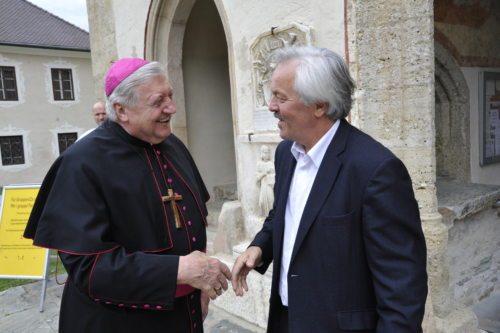 Upokojeni nadškof Uran in Pavle Zablatnik, Referat za cerkveno glasbo pri DPU (© Foto: Vincenc Gotthardt )