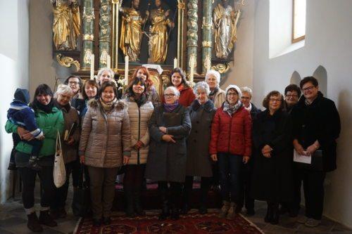 Auftritt des Kirchenchores Damtschach / Köstenberg am 25.11.2016, Christkönigssonntag, in der Pfarrkirche Köstenberg. (© Foto: Ingo Sternig)