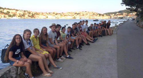 Die Jugendlichen aus der Pfarre Eberndorf in Mali Lošinj (Foto: H. Narovnigg)