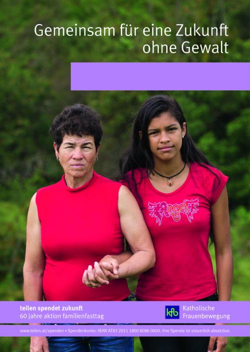 Plakat der Aktion Familienfasttag 2018 (© Foto: Katholisches Frauenwerk in Österreich. Referat Entwicklungspolitik - Aktion Familienfasttag)