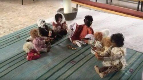 Jesus und seine Jüngerinnen und Jünger (Szene aus dem Video von Hans Peter Premur)