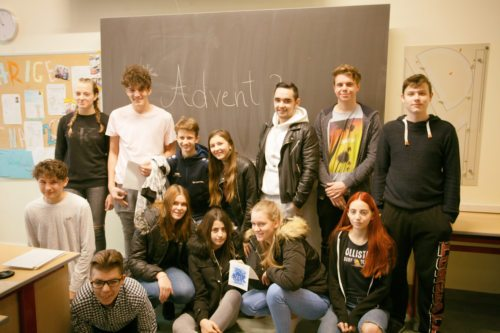 Dijaki Višje šole za gospodarske poklice v Št. Petru (Mistelbauer)