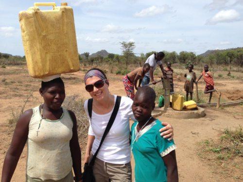 Auslandshilfe-Bereichsleiterin Alexandra Blattnig auf Projektreise in Nord-Uganda - © Foto: Caritas Kärnten