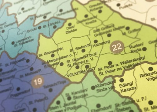 Detail aus der Diözesankarte (Foto: KH Kronawetter)