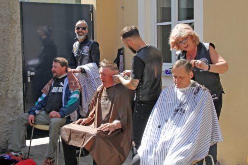 Barber Angels im Einsatz (© Foto: Caritas Kärnten)