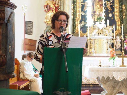 Lektorin Mag. Maria Mrčela (Foto/slika: Pfarrarchiv Neuhaus- Suha)