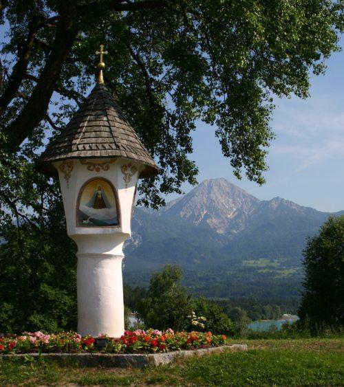 Bildstock am Faakersee (© Foto: Referat Tourismusseelsorge)