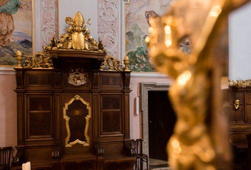 Bischofssitz in der Kathedralkirche Dom zu Klagenfurt. Foto: Pressestelle/Neumüller