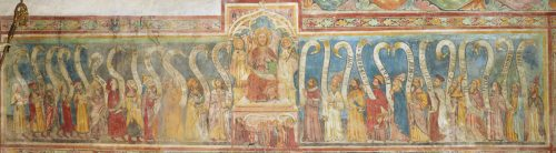 Altherrenbild um 1380, Fresko im Gurker Dom  (© Foto: Kunstverlag Peda)
