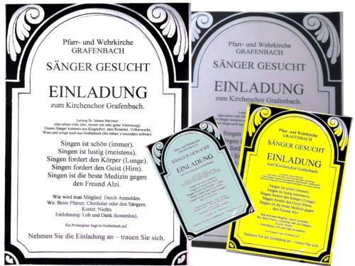 Sänger für den Kirchenchor werden gesucht (© Foto: Kirchenchor Grafenbach)