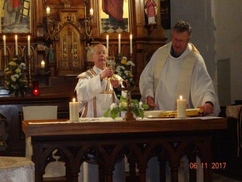 Prälat Mathias Hribernik und Pfarrer Josef Markowitz (© Foto: Rosemarie Spök)
