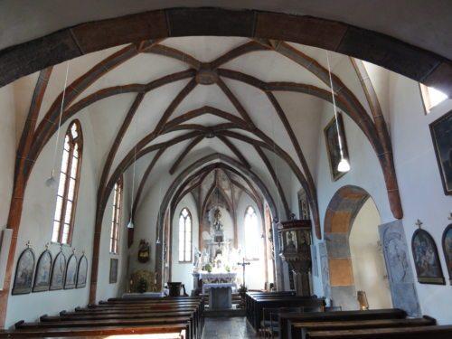 Kirchenraum in Feistritz/Bistrica (© Foto: privat)