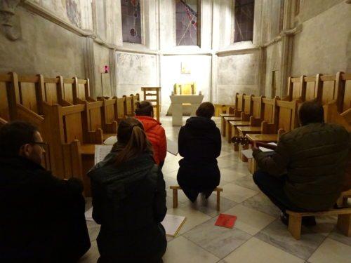 Nächtliches Gebet in der Rabensteinerkapelle des Stifts St. Paul (© Foto: KJ Lavanttal)