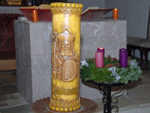 Ambrosiuskerze/Sveča v čast sv. Ambrožu (Klaus Jähnisch)