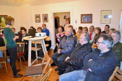 Eva Maria Logar berichtete über die Veranstaltungen der Gemeinde zum 60jährigen Bestandsjubiläum (Foto: OStR Mag. Karl Pölz)