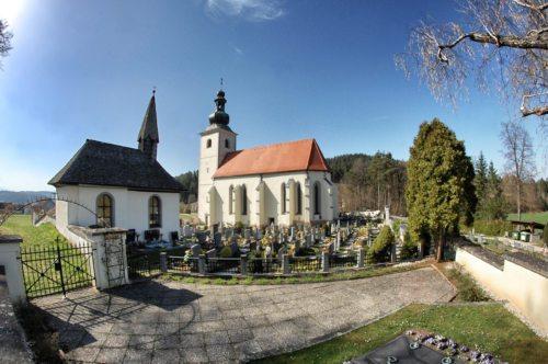 Maria am Berg/Maria na gori - die Anna-Kapelle links im Vordergrund (Foto: S. Lesjak jun.)