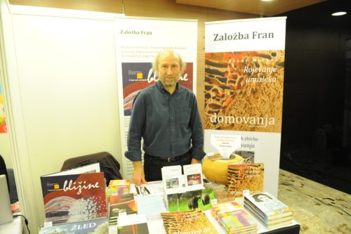 Franc Merkač na Slovenksem knjižnem sejmu (Gotthardt)