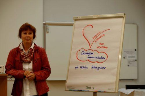 Frau Mag. Ursula Autengruber leitete den Workshop (Priesterseminar / Piotr Karaś)