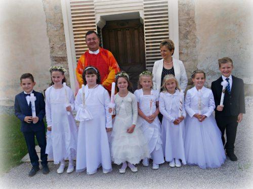 Gruppenbild nach der Erstkommunionfeier im Dom (© Foto: Ingrid Sabitzer)