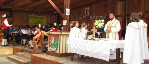 Messe anlässlich des Jubiläumsfestes 130 Jahre Feuerwehr Matschiedl. (PSt).