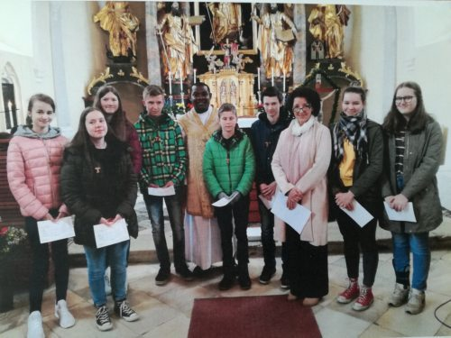 Sendungsmesse / zahvalna maša z birmanci in der Pfarrkirche Diex / Djekše am 28.04.2019